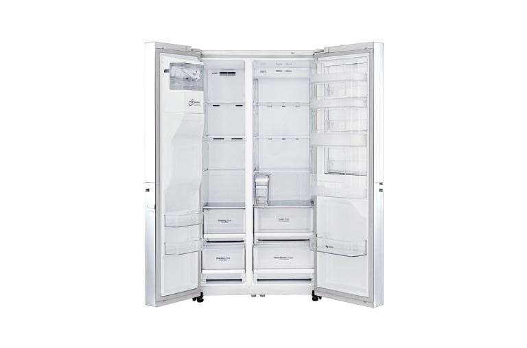 Side By Side Kühlschrank Weiß : Lg gsj swxz side by side kühlschrank a lg deutschland