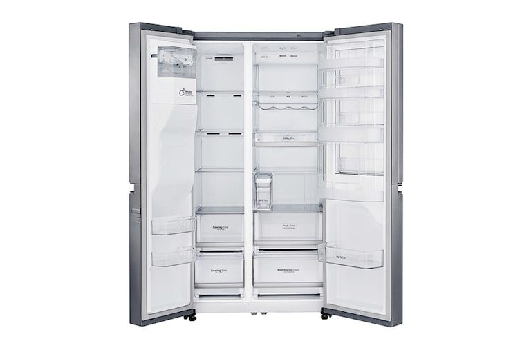 Side By Side Kühlschrank Bewertung : Lg gsj pztz side by side kühlschrank a lg deutschland