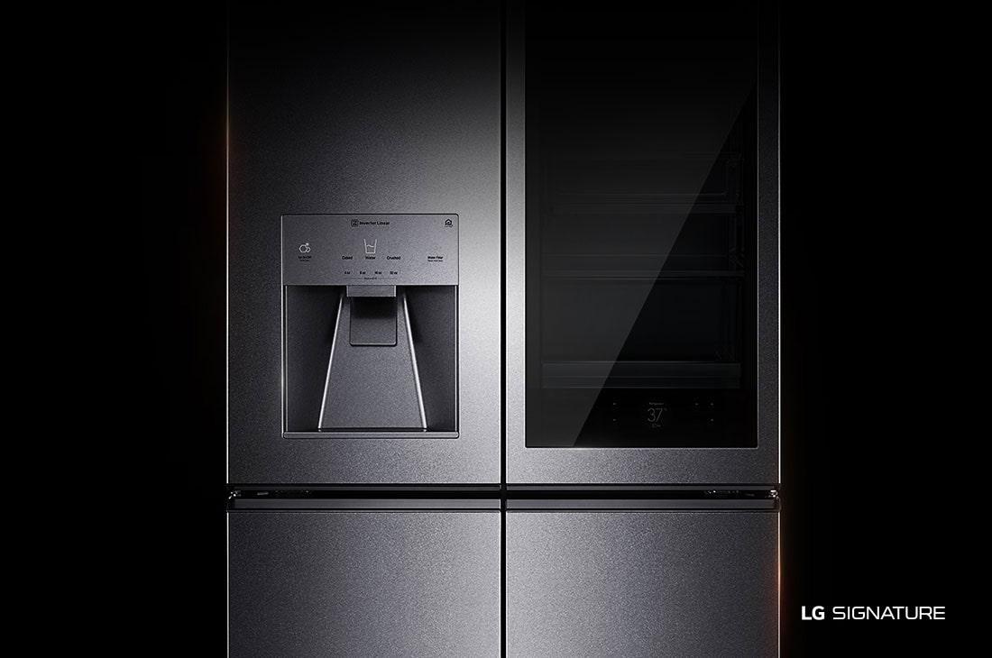 Kühlschrank French Door : Lg signature lsr100 instaview kühlschrank a lg deutschland