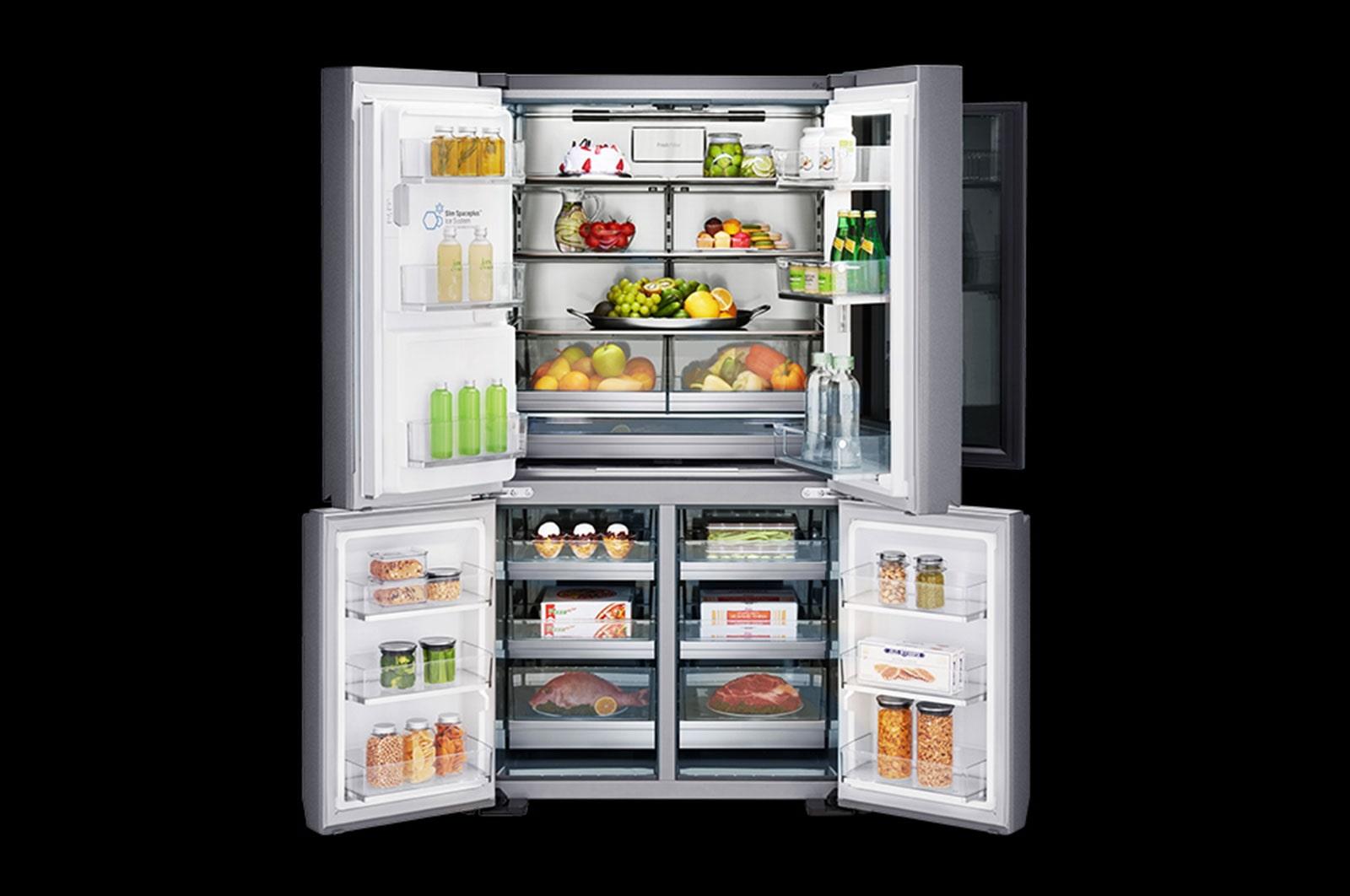 Side By Side Kühlschrank 4 Türig : Lg signature lsr instaview kühlschrank a lg deutschland