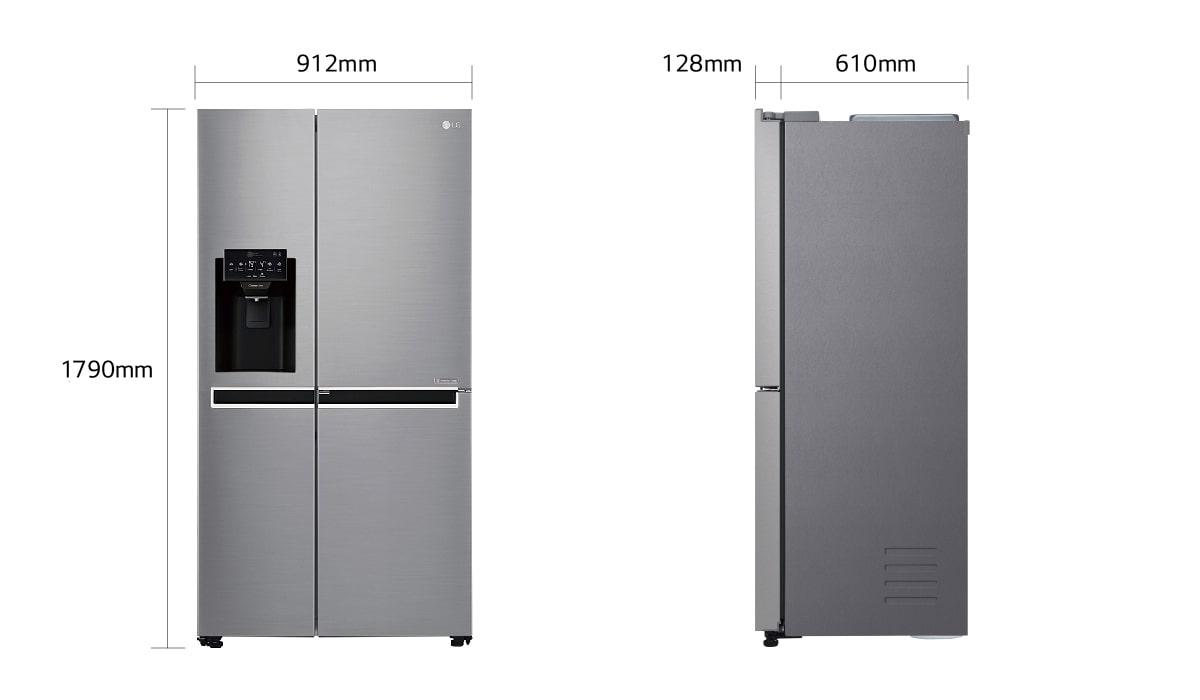 Kleiner Kühlschrank Gewicht : Lg side by side kühlschrank gewicht: samsung rs7528thcsl ef side by