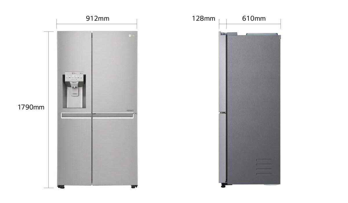 Side By Side Kühlschrank 5 Jahre Garantie : Lg gsj nsuz a side by side nofrost door in door ™ mit