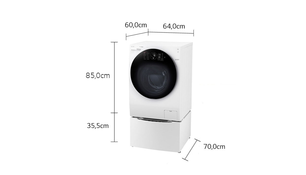 lg twinwash waschmaschine 12 kg mini waschmaschine 2kg a 60 dampffunktion lg. Black Bedroom Furniture Sets. Home Design Ideas