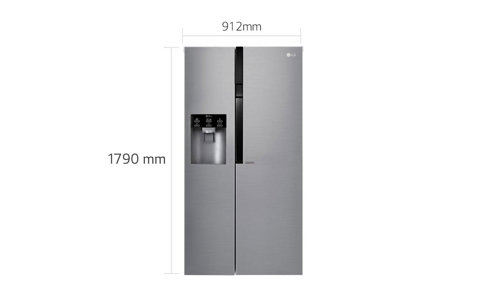 LG A   Side-by-Side mit Eis-, Crushed Ice- und Wasserspender und ...