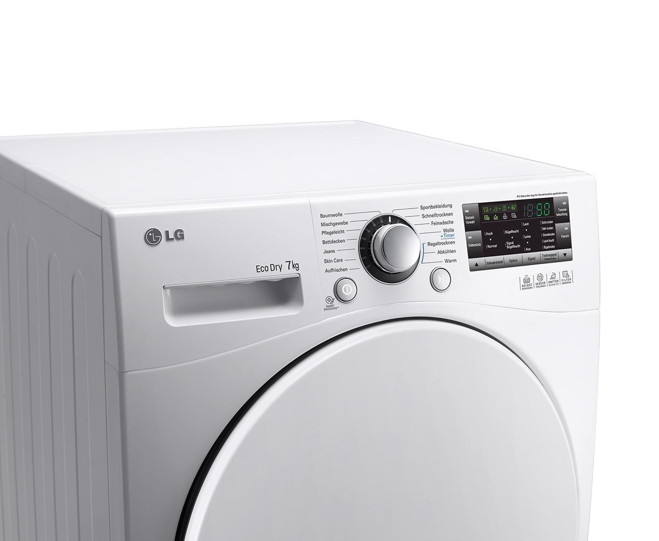 Lg rc7055ah1z kondenstrockner mit energieeffizienzklasse a