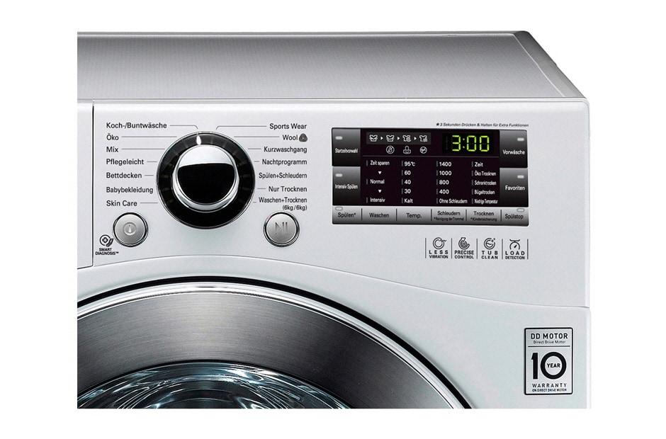 Lg waschtrockner der energieeffizienzklasse a mit motion