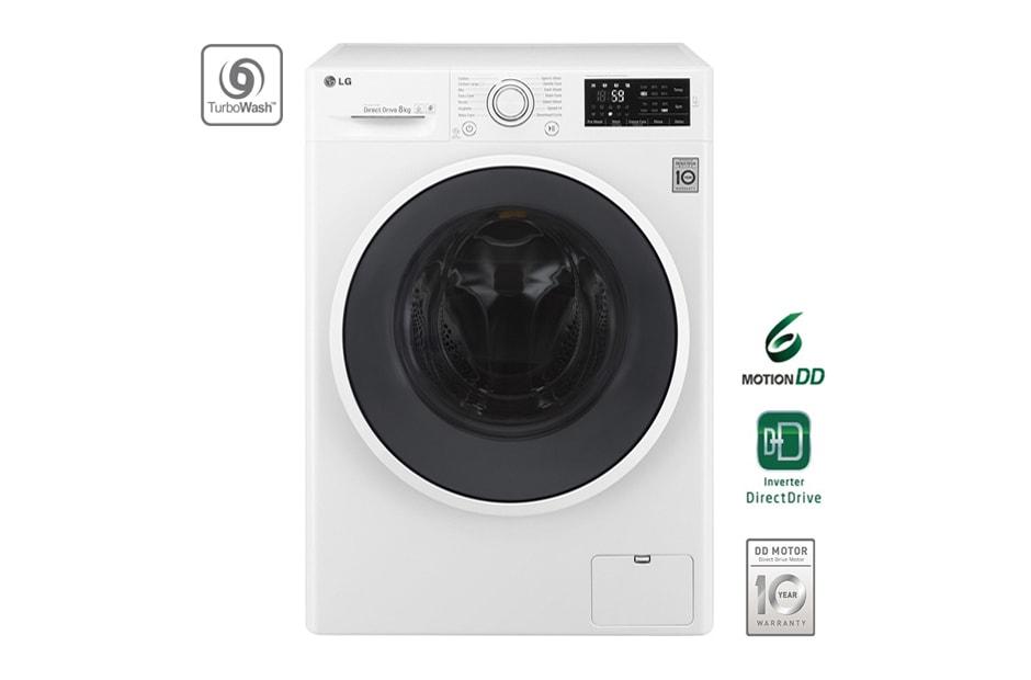 lg waschmaschine mit 6 motion direct drive 8 kg fassungsverm gen und turbowash lg deutschland. Black Bedroom Furniture Sets. Home Design Ideas