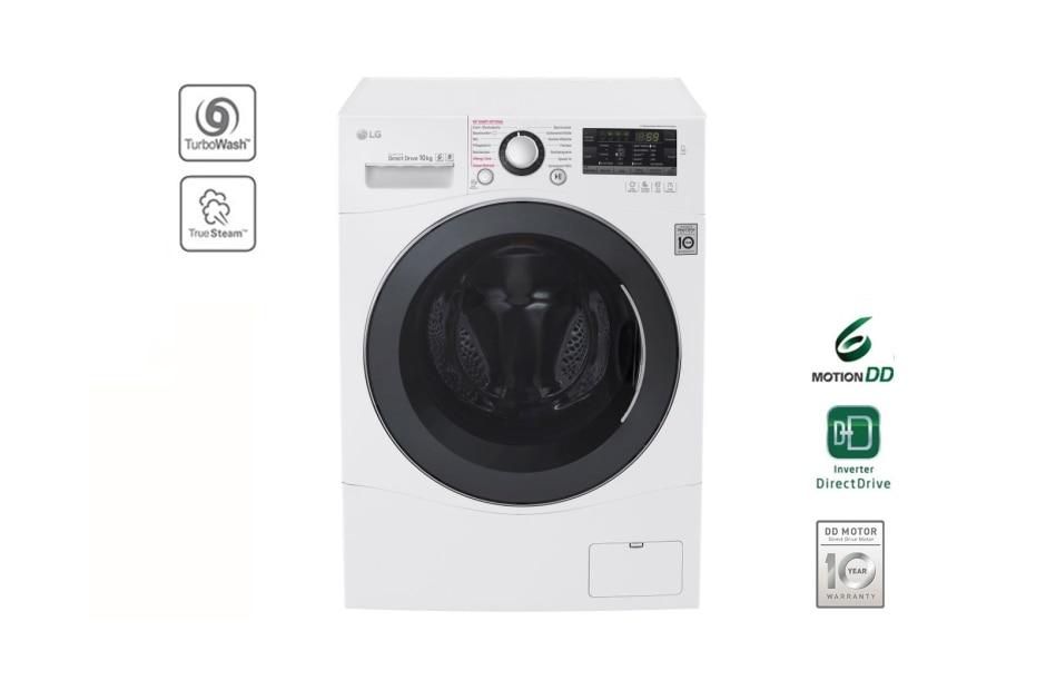lg waschmaschine mit 6 motion direct drive 10 kg fassungsverm gen turbowash und true steam. Black Bedroom Furniture Sets. Home Design Ideas