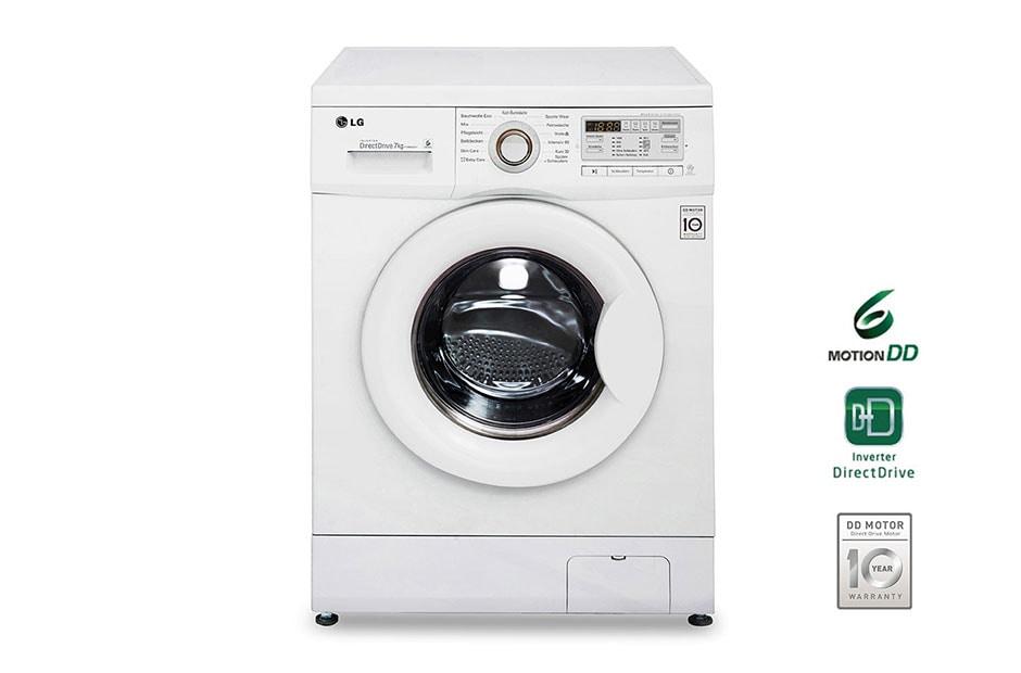 lg waschmaschine mit 6 motion direct drive 7 kg fassungsverm gen und intelligente. Black Bedroom Furniture Sets. Home Design Ideas