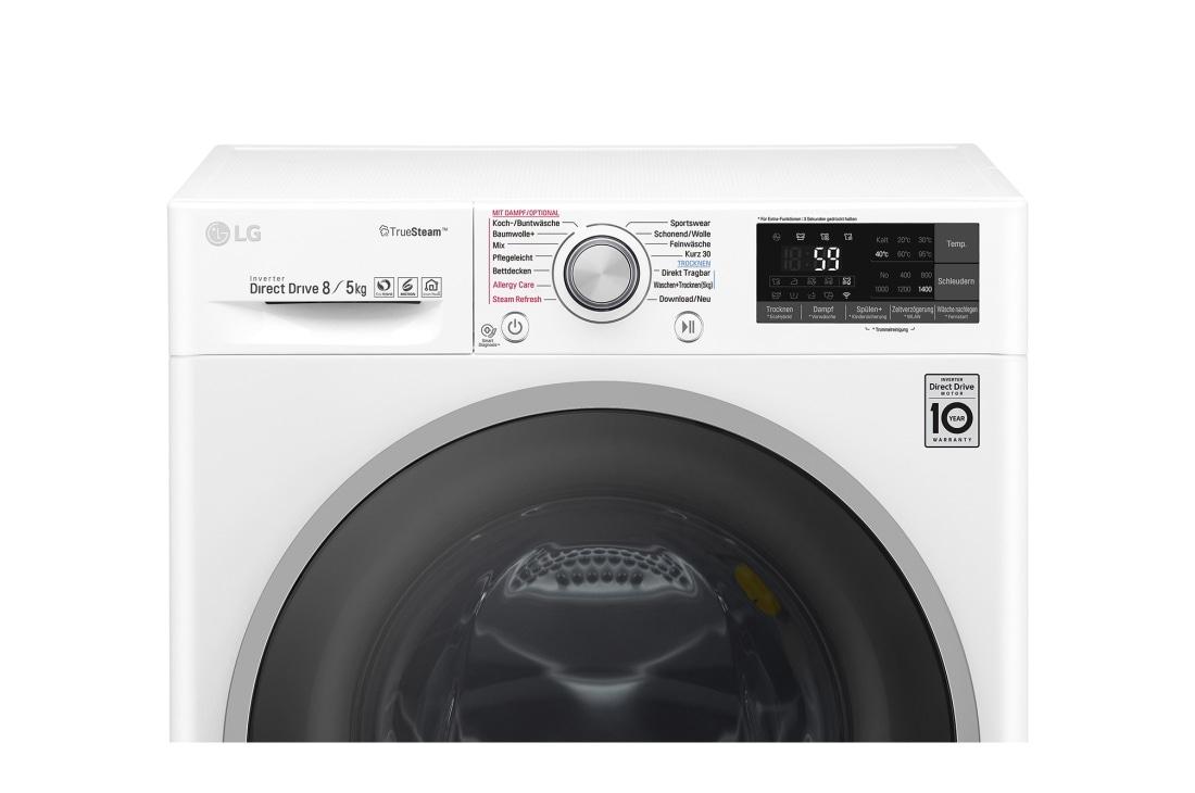 Lg waschtrockner 8 kg waschen 5 kg trocknen i truesteam™ premium