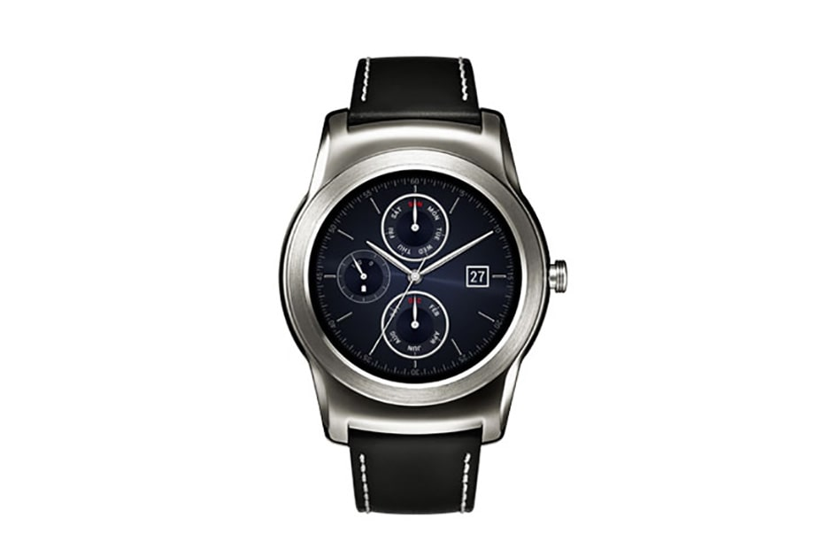 LG Alle Android Smartphones Smartwatch mit 1,2 GHz Quad-Core-Prozessor, 3,3 cm (1,3 Zoll) rundem Plastic-OLED-Display und Android Wear 1