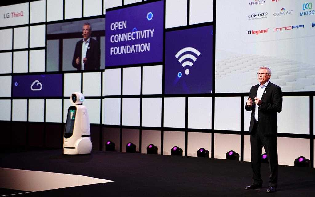Open connectivity Foundation chairman Matthew Perry is presenting at LG IFA 2018 in Berlin.