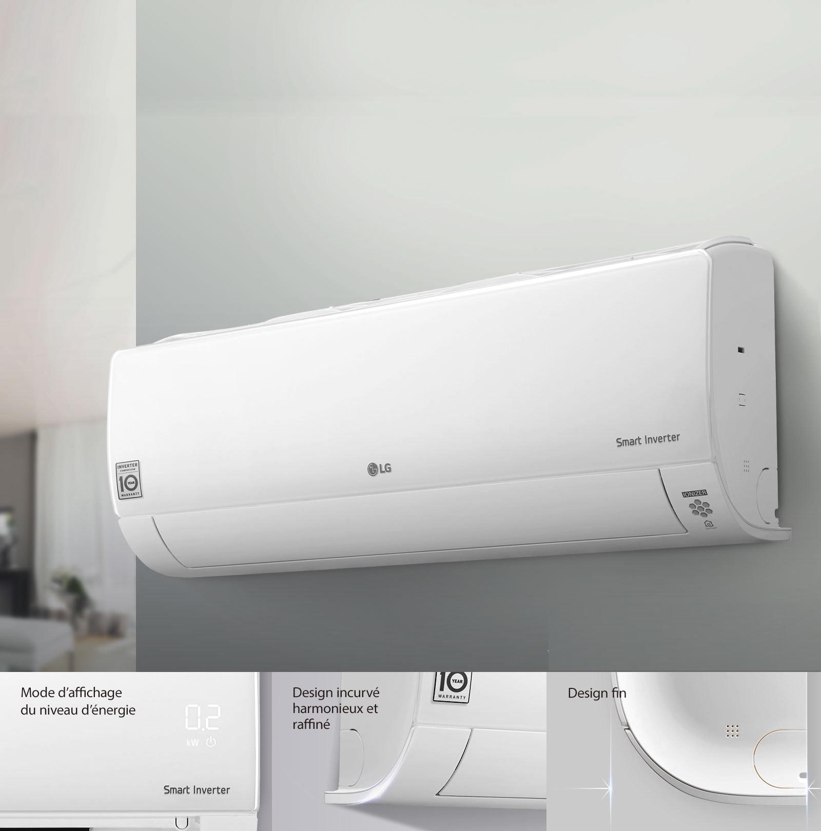 Design simple et élancé avec écran invisible