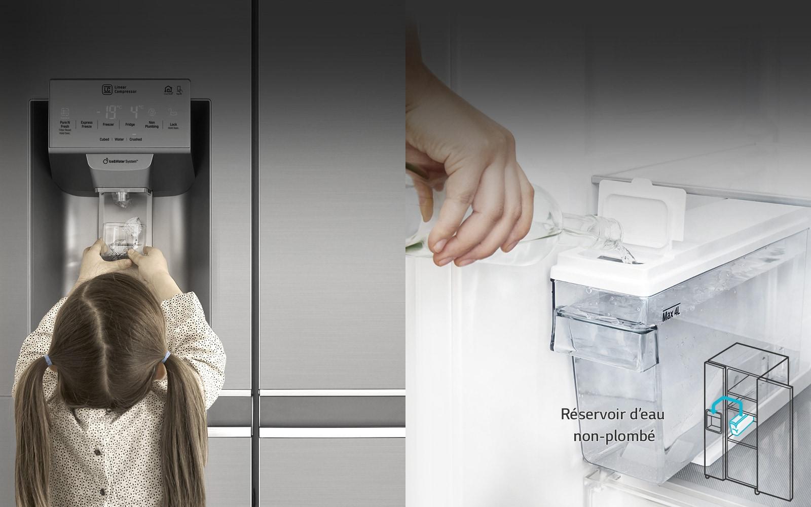 Insertion et retrait faciles du réservoir d'eau1