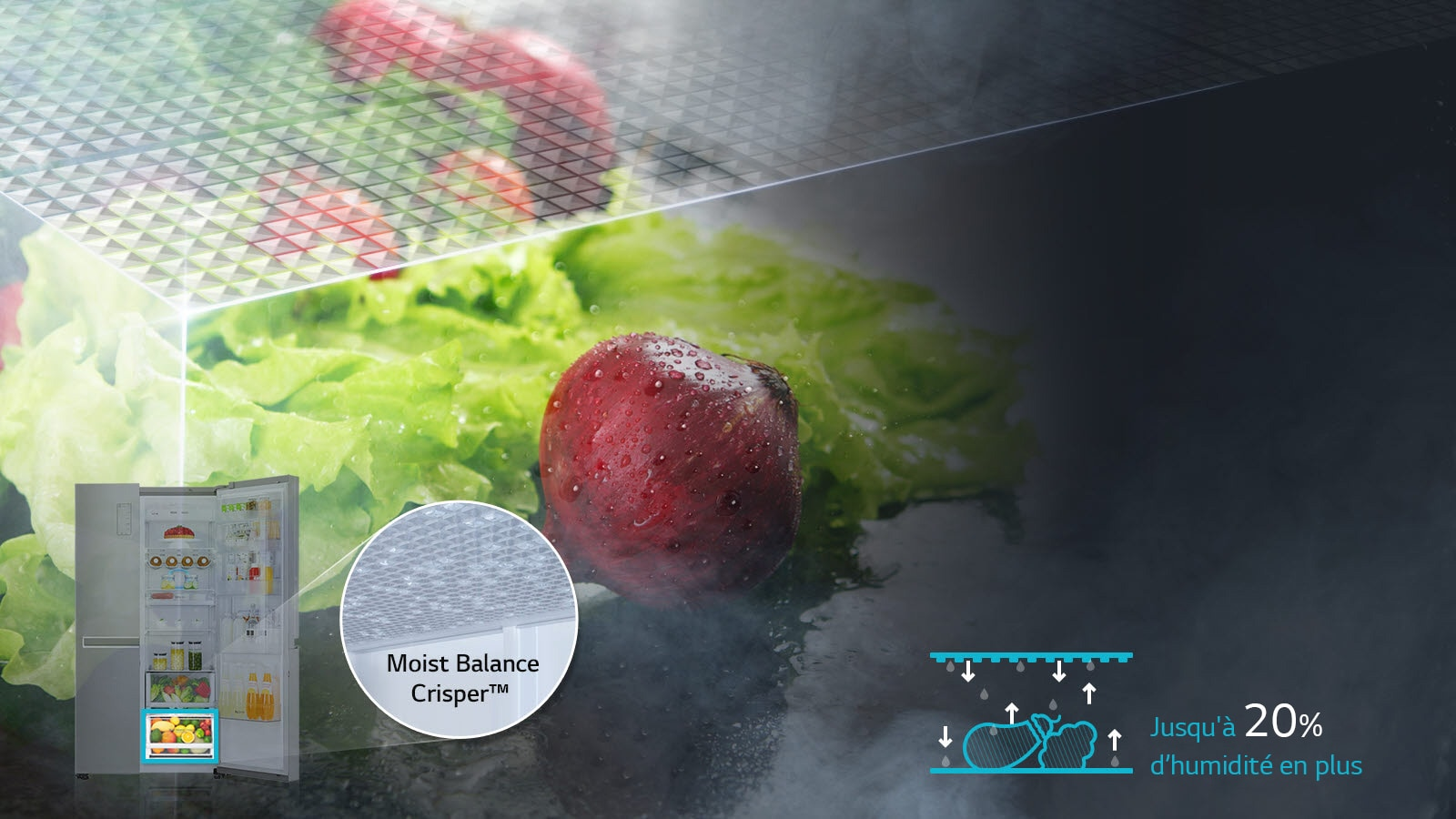 Technologie Moist Balance Crisper™1