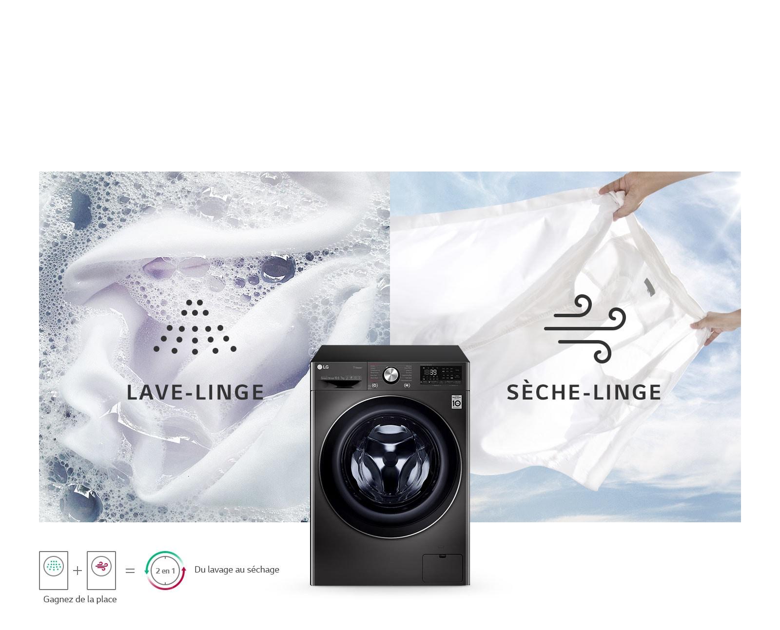 Lave-linge et sèche-linge en un1