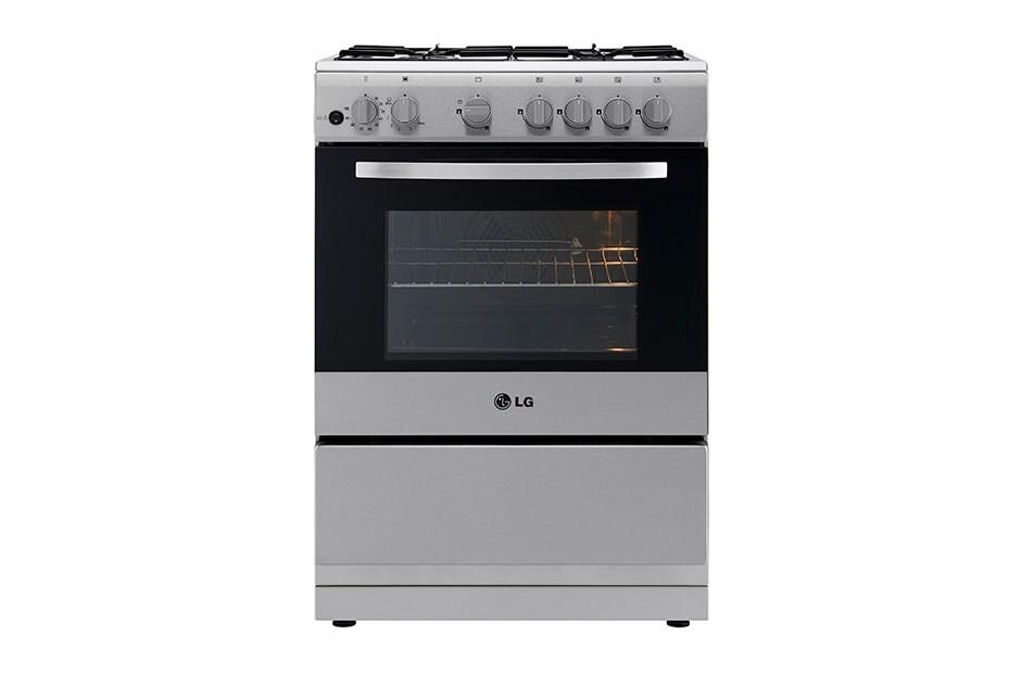 LG Cuisinière à gaz 4 Feux 60 CM| Double allumage (four et gril ...