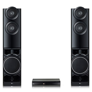 front view two tower speakers with DVD Player1