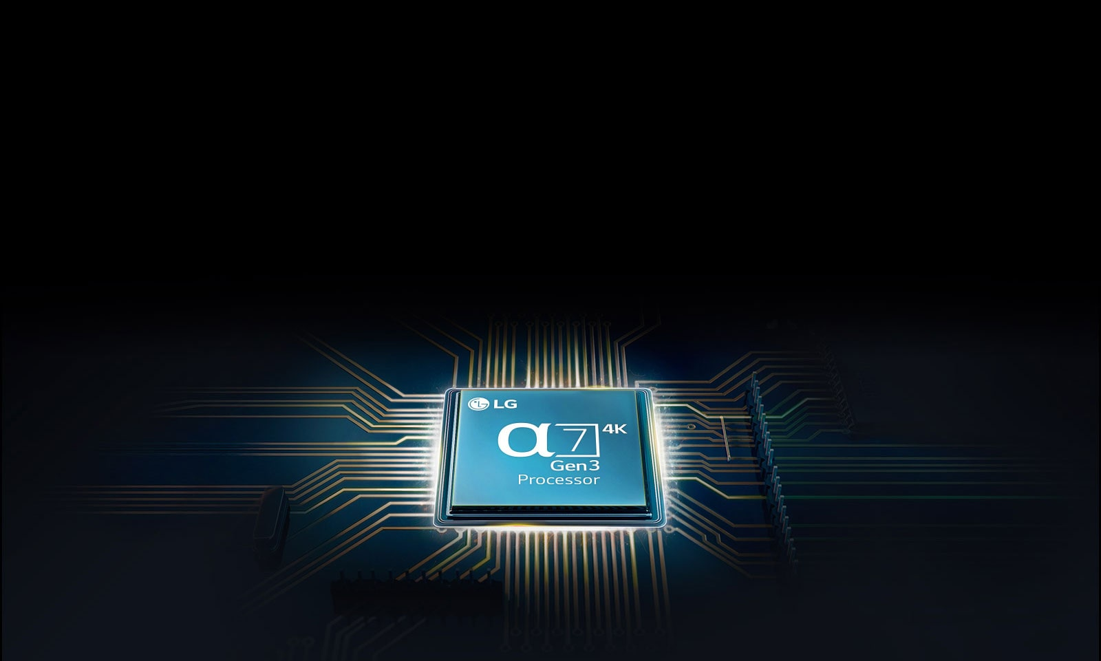 Alpha 7 chip mounted on a TV mainboard