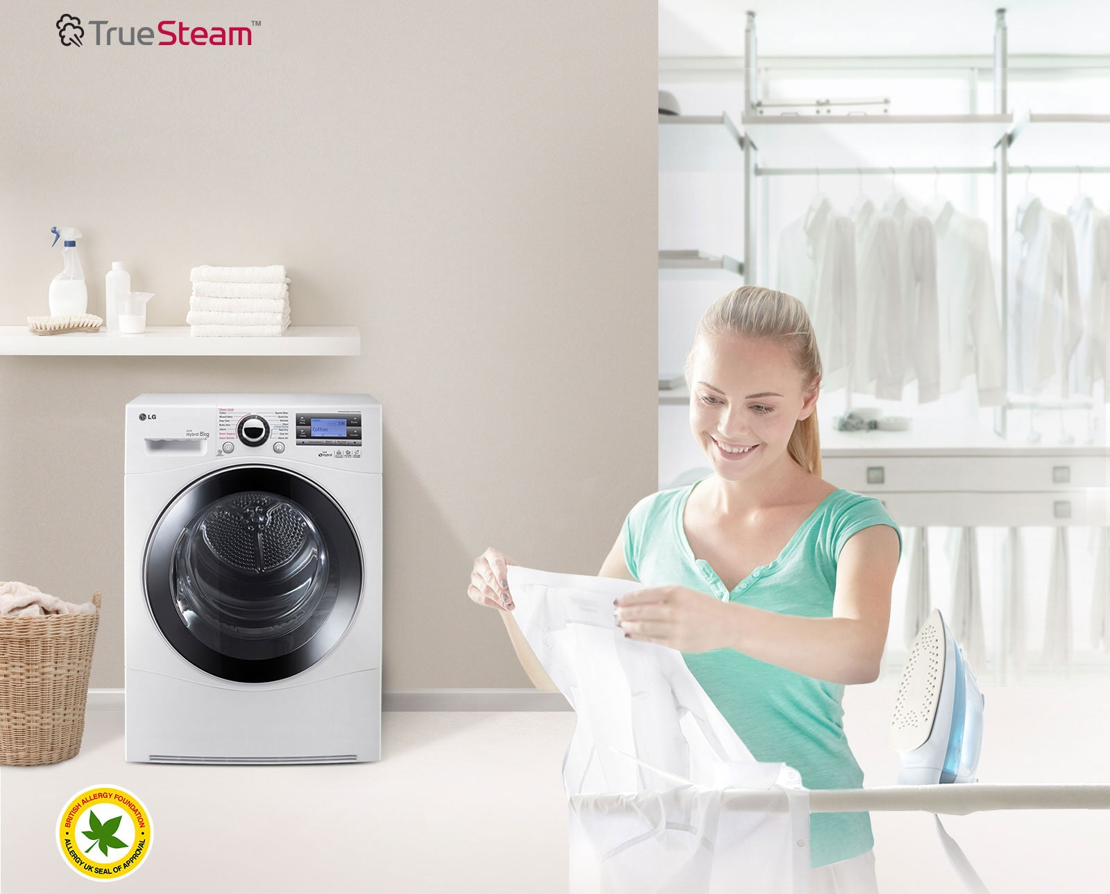 True Steam? reduces wrinkle, saves time ironing1