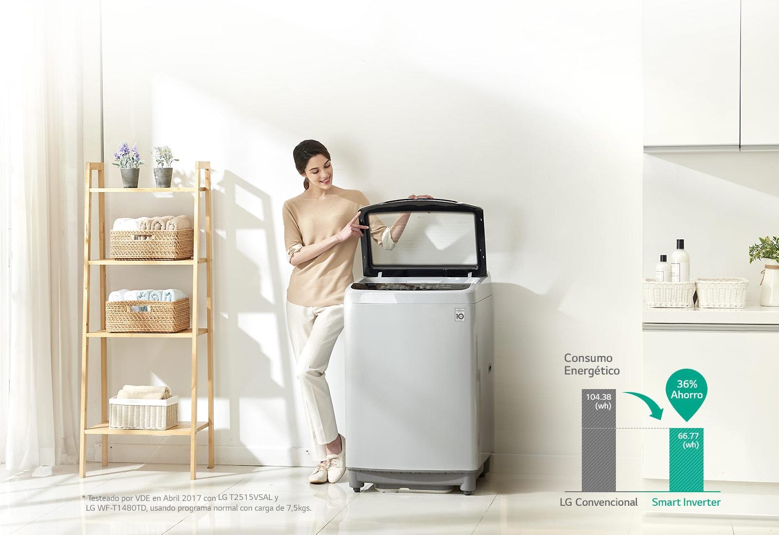 Lavadora Inverter de Carga Superior LG con Motor Smart Inverter| LG Ecuador