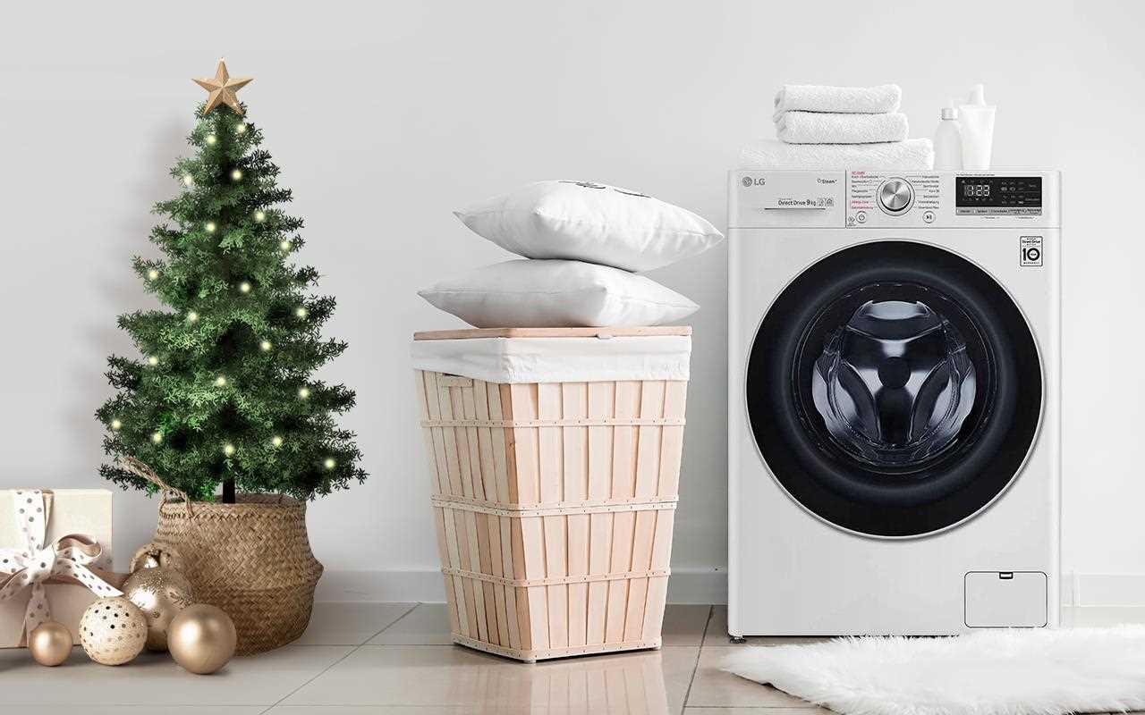 The LG Washing Machine comes equipped with AI that can detect your load of washing and pick the right cycle accordingly - the perfect Christmas present! | More at LG MAGAZINE