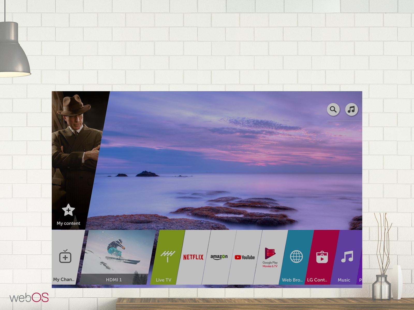 شاشه ال جي ٧٥ بوصه UHD 4K Smart 75UK7050PVA