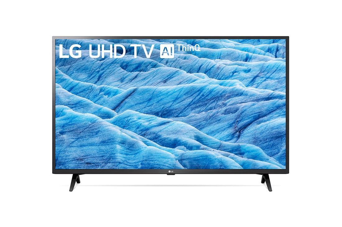 LG سلاسل تلفزيون UHD مقاس 43 بوصة UM7340 من LG، شاشة IPS 4K، تلفزيون 4K HDR LED الذكي، w/ThinQ AI, 43UM7340PVA