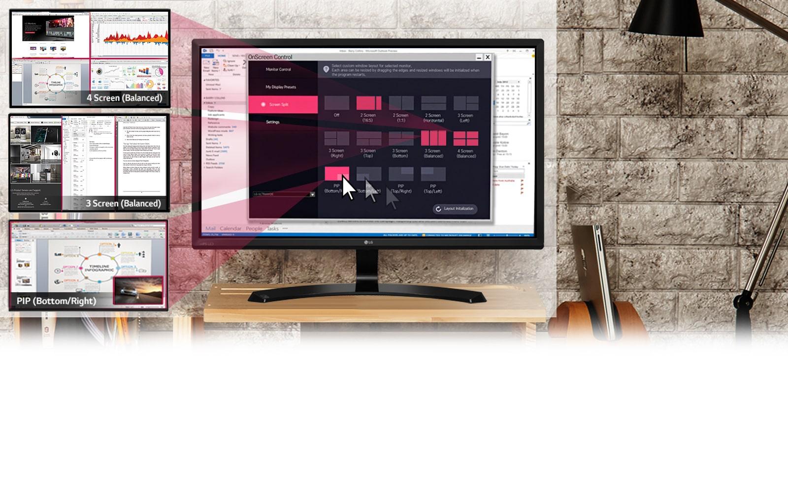 LG 24 Full HD LED Monitor with On-Screen Control LG Electronics EG_EN