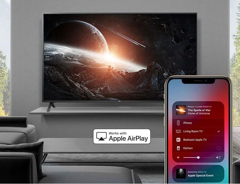 AirPlay به شما اجازه می دهد همه کارها را انجام دهید.  تماشا کردن.  گوش بده.  اشتراک گذاری