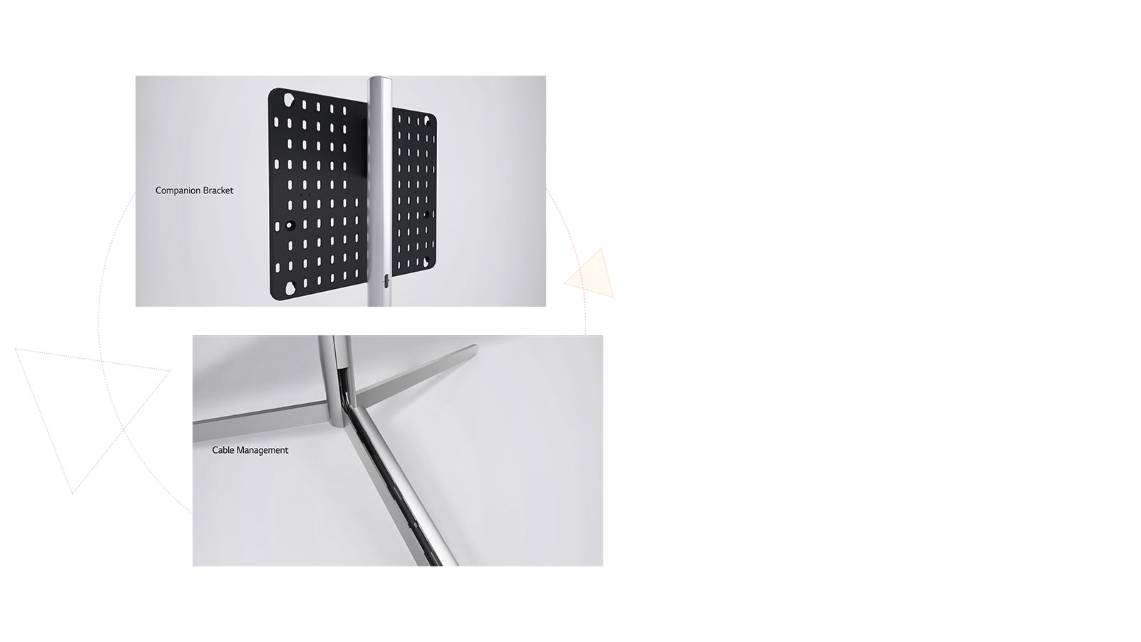This is an image of the companion bracket and cable management.