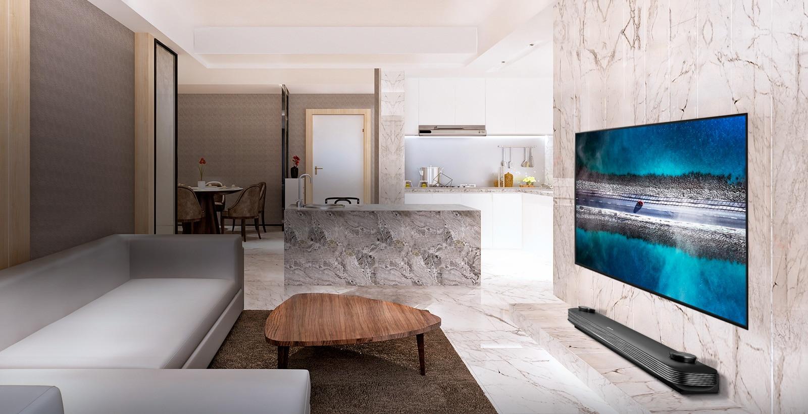 El único televisor que se pega a la pared1