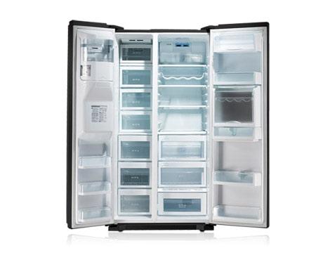 Lg grp2374enr frigor ficos frigor fico estilo americano for Dispensador de latas para frigorifico
