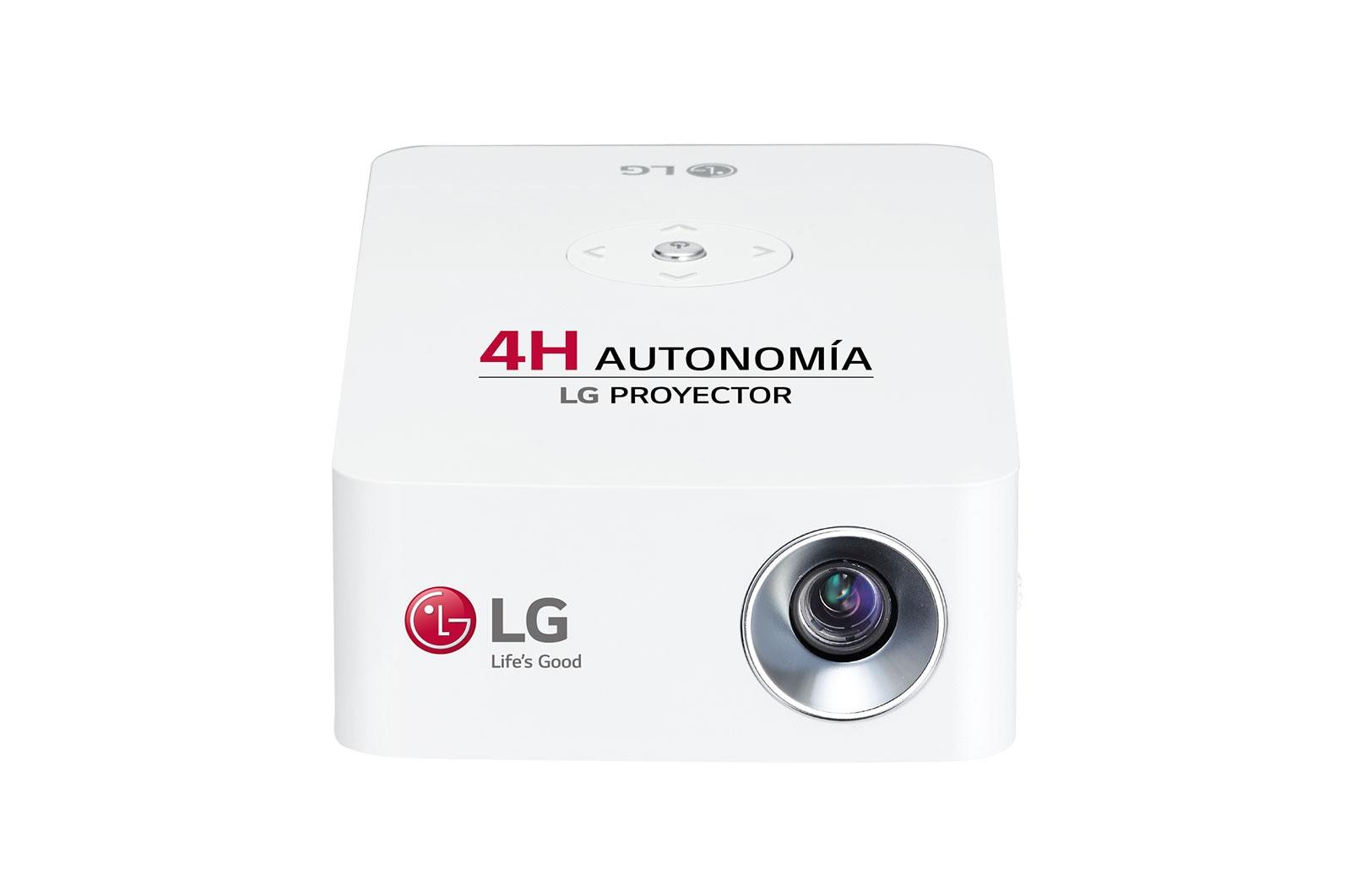 LG Proyector PH30JG - LG CineBeam con batería integrada (hasta 100'', autonomía 4 horas, fuente LED, 250 lúmenes,1280 x 720) 100,000:1, PH30JG