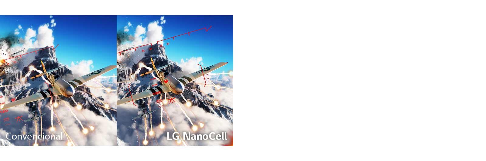 Una escena de un juego de batallas con el avión