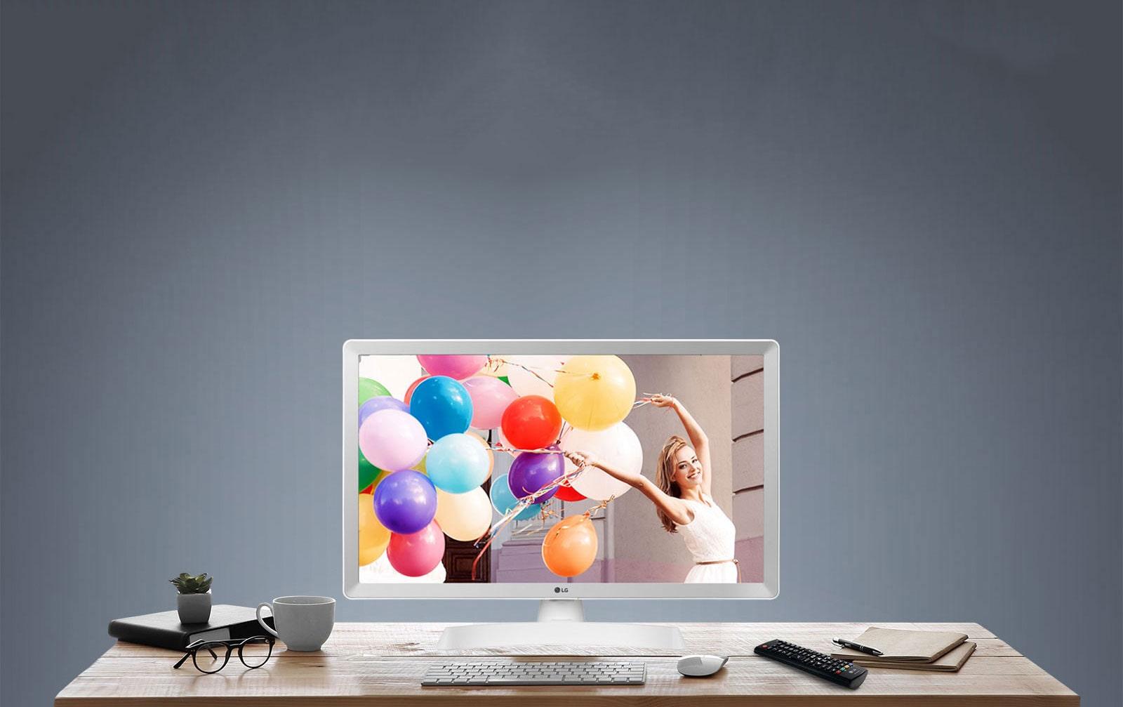Disfruta de un monitor y una televisión al mismo tiempo con el monitor LED LG para televisión.