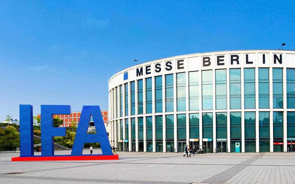 A front view image of IFA at Messe in Berlin, Germany.