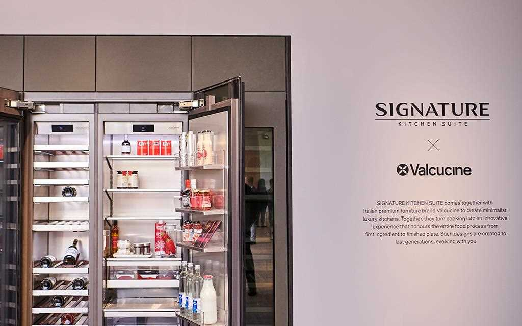 IFA 2018: A close-up of the refrigerator inside the SIGNATURE KITCHEN SUITE exhibition for LG