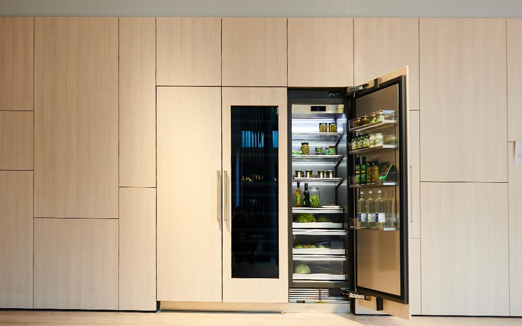 IFA 2018: A refrigerator and wine cellar combination at the SIGNATURE KITCHEN SUITE exhibition for LG