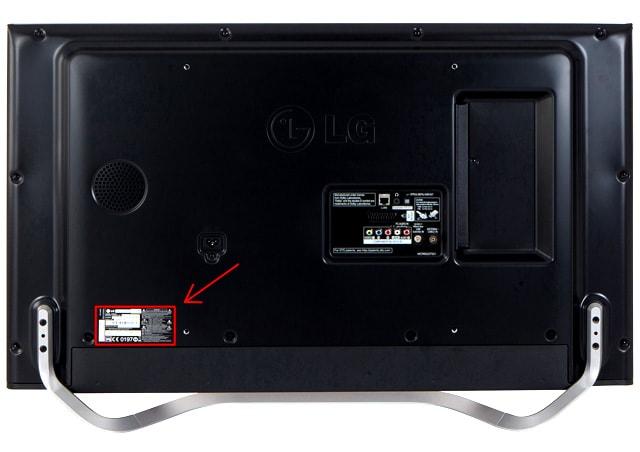 LG-numero-serie-television