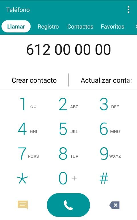 Marcar numero