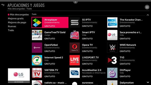Aplicación Atresplayer de Atresmedia | LG España