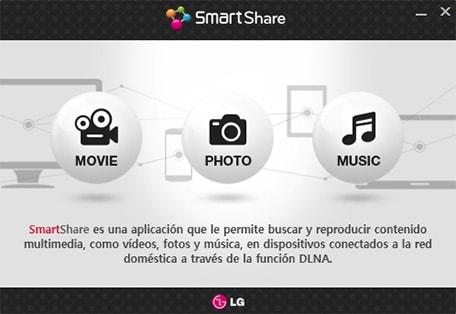 SmartShare compartir contenido desde PC con smartShare LG