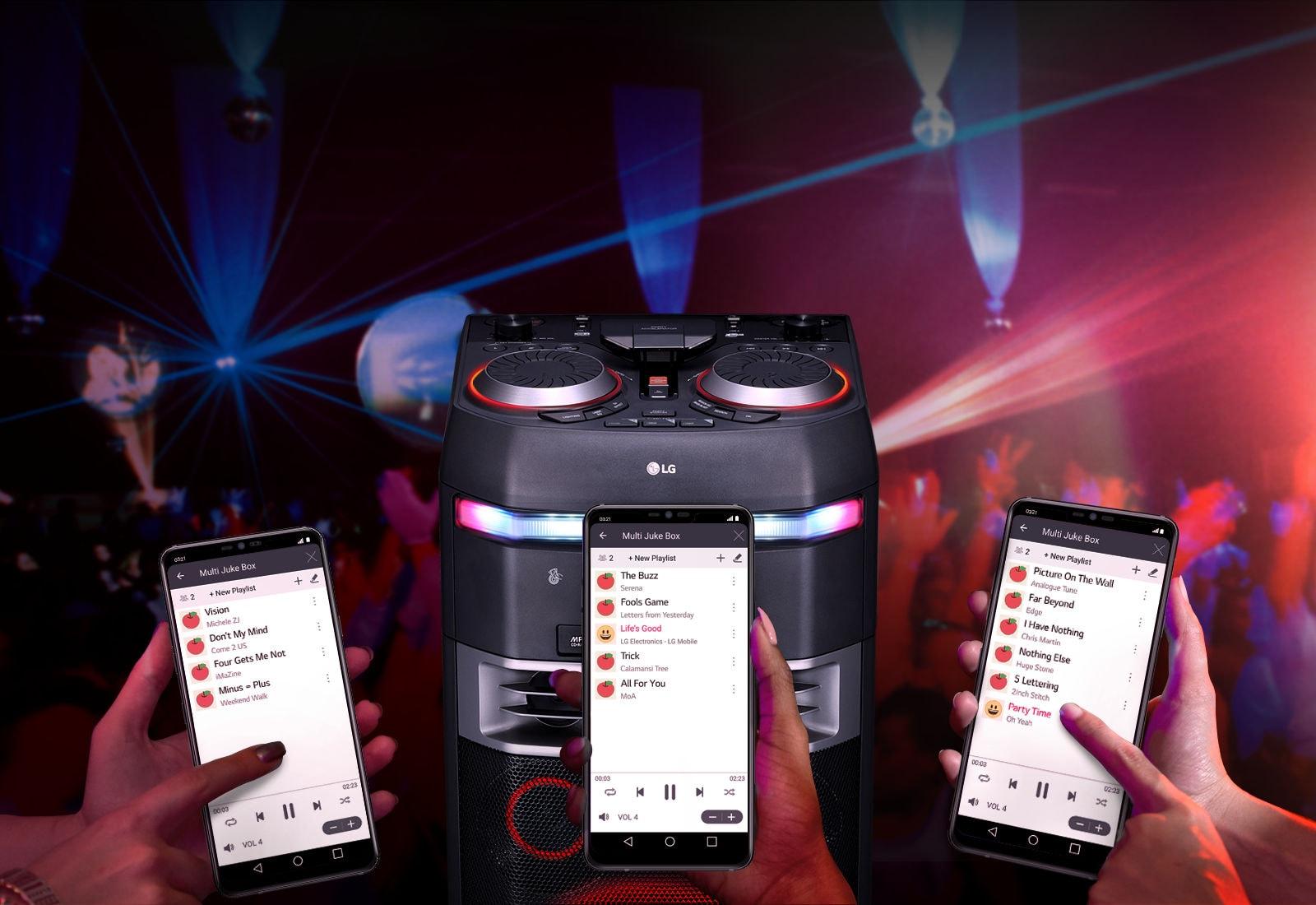 Connexion de plusieurs smartphones en simultané