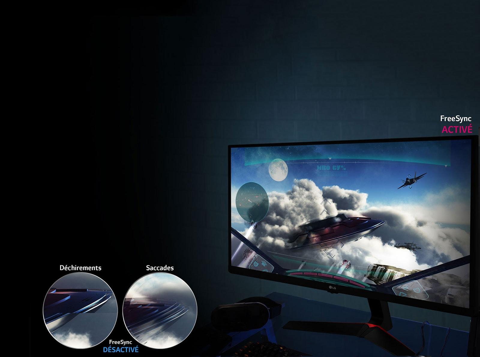 Mouvement de jeu fluide:Technologie AMD FreeSync™