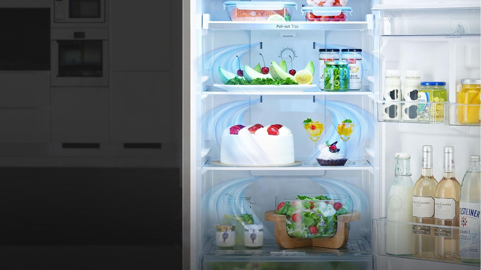 Déplacement de l'air dans le réfrigerateur