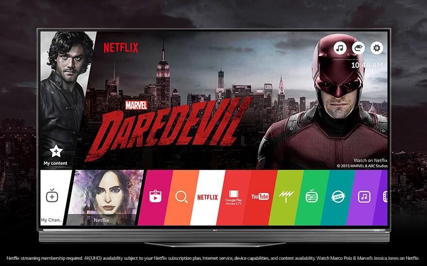 Le LG TV OLED est la parfaite association pour visionner Netflix