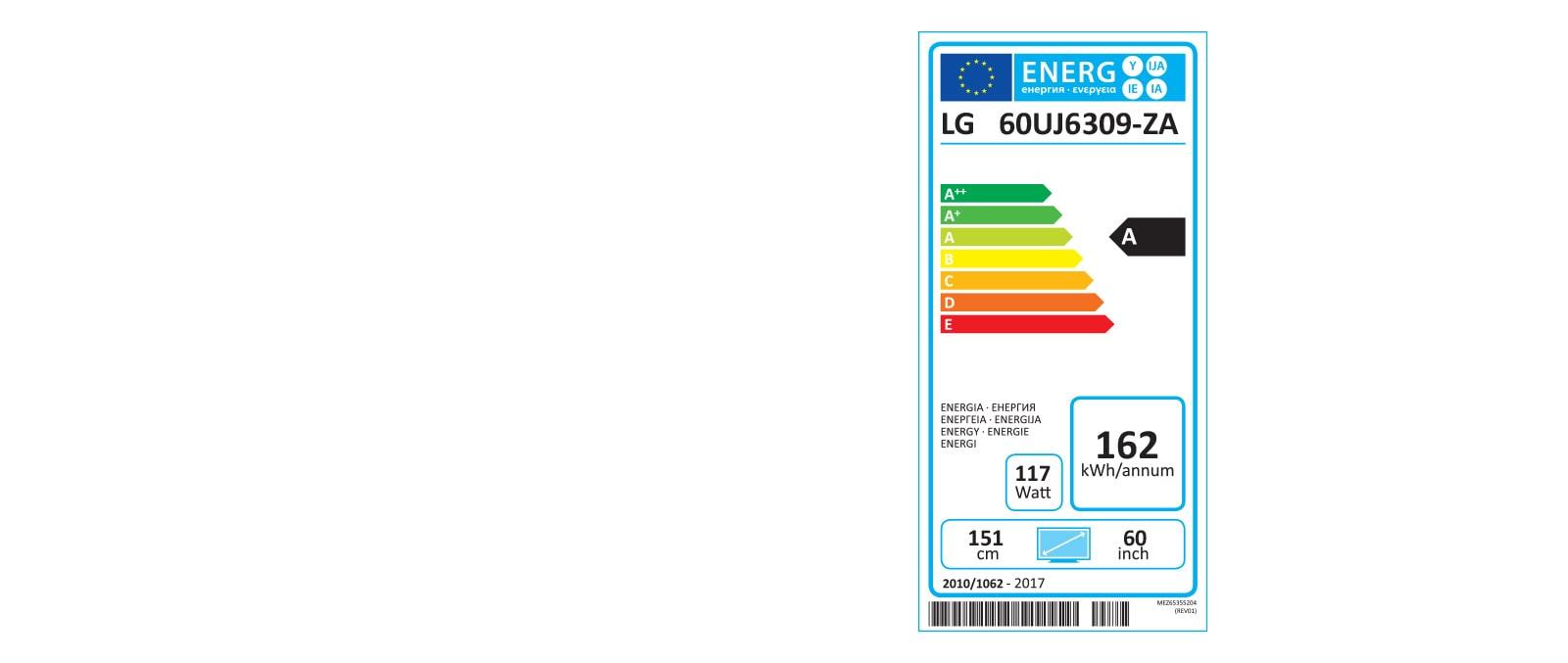 Etiquette Energie 60UJ630V