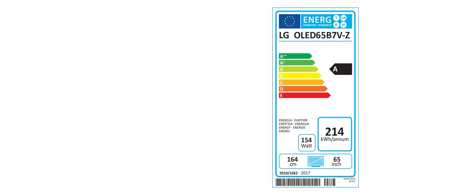 Etiquette Energie OLED65B7V