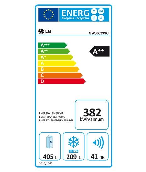 Etiquette Energie GWS6039SC